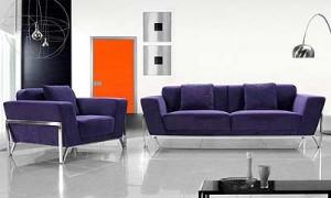 Fabric Purple Sofa Set VG Vogue