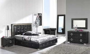 Gertruda EF Contemporary Black Bedroom Set